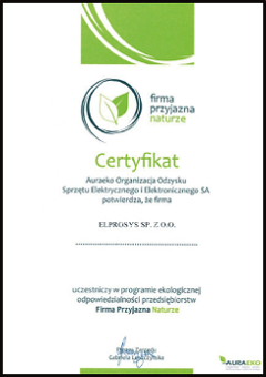 elprosys certificate