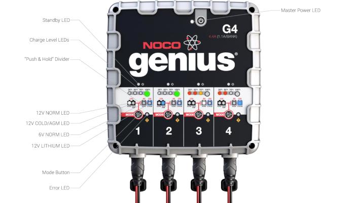 car battery charger NOCO G4EU jump starter