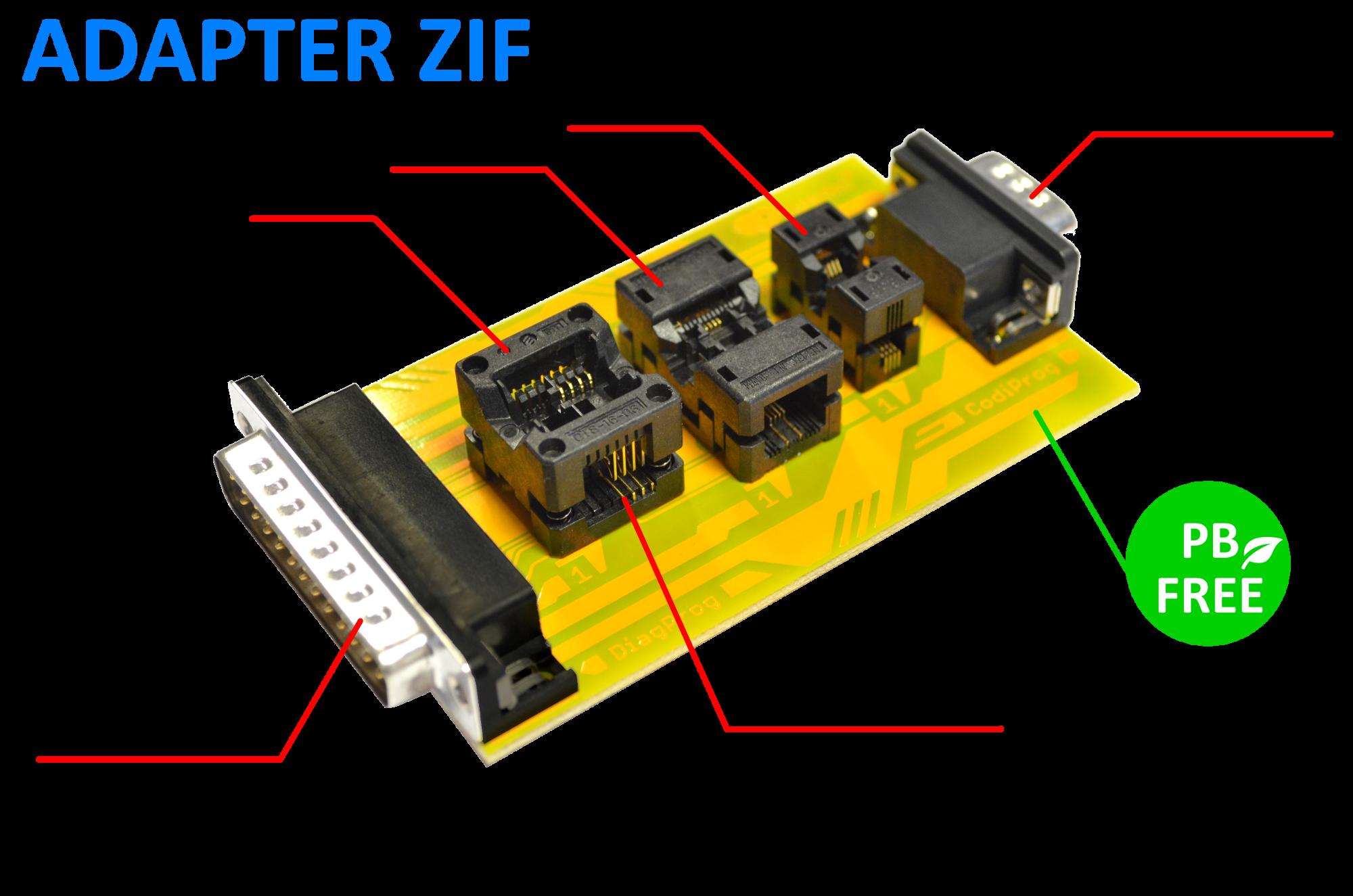 ZIF Adapter prorgamator pamięci EEPROM